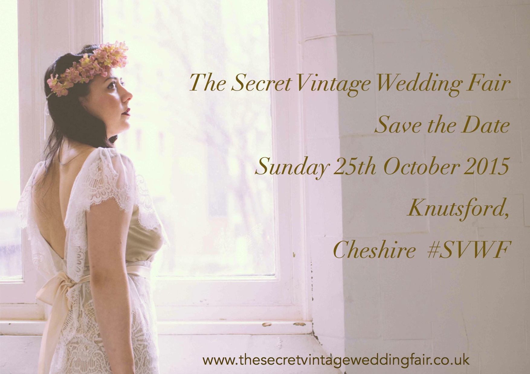 Poster SECRET VINTAGE WEDDING FAIR Cheshire 2015